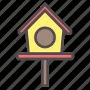 bird, birdhouse, garden, house, pet, spring, wood icon