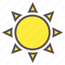 light, spring, summer, sun, sunlight, sunny, weather icon