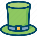 cylinder, green, hat, irish, leprechaun, patrick icon