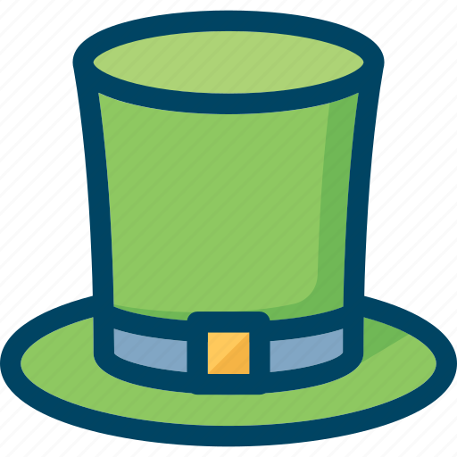 cylinder, green, hat, irish, leprechaun, patrick icon