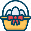 basket, easter, egg, eggs, spring icon