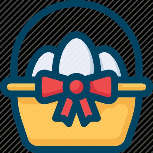 basket, easter, egg, eggs, spring icon