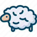 animal, mammal, nature, sheep, wool icon