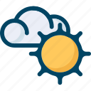 cloud, cloudiness, spring, sun, sunny, weather icon