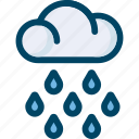 cloud, drop, rain, spring, weather icon