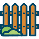 fence, garden, grass, home, palisade, wood
