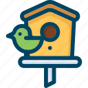 bird, box, home, nest, nesting, spring, wood icon