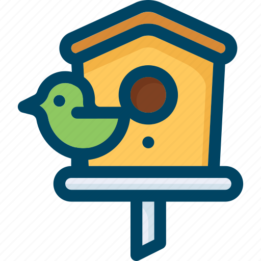 bird, box, home, nest, nesting, spring, wood icon