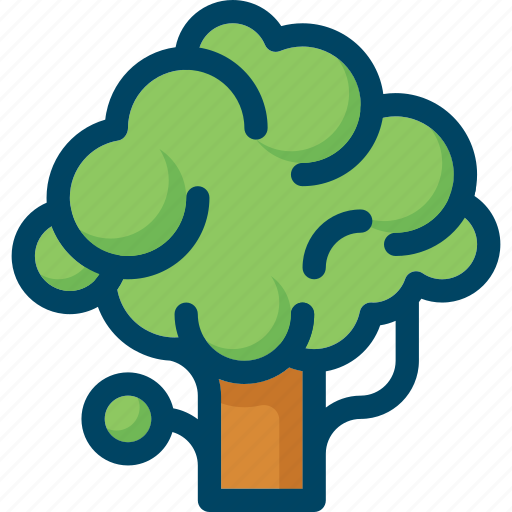 green, nature, spring, tree, wood icon