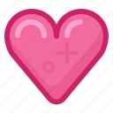 heart, like, love, romance, spring, valentine, yumminky icon