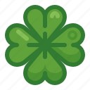 clover, cloverleaf, happiness, luck, plant, spring, yumminky icon
