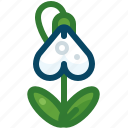 flower, growth, nature, plant, snowdrop, spring, yumminky icon