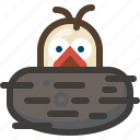 bird, birth, life, nature, nest, spring, yumminky icon