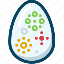 easter, egg, painted, shell, spring, tradition, yumminky icon