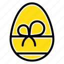 eat, egg, gift, spring icon