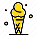 cone, cream, ice icon