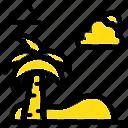beach, palm, spring, tree icon
