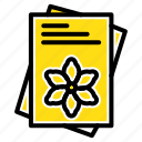 file, flower, seeds, spring icon