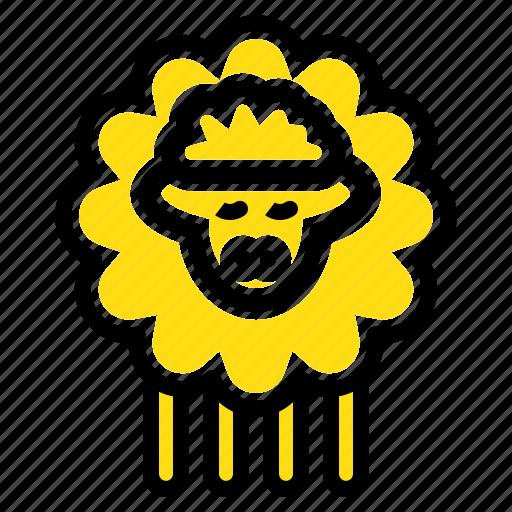 mutton, ram, sheep, spring icon