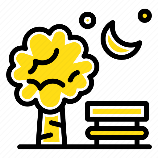 baloon, bench, chair, park, spring icon