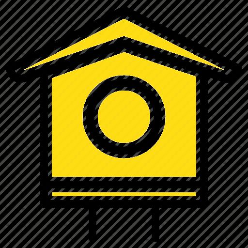 bird, house, spring icon
