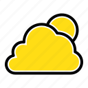 cloud, cloudy, sky, sun icon