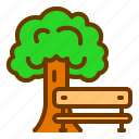 chair, garden, nature, park, tree icon