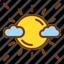 bright, nature, spring, sun, weather icon
