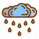cloud, rain, storm, water, weather icon