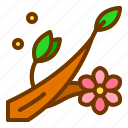 branch, flower, nature, spring, tree icon