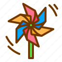 craft, origami, paper, weather, windmill icon