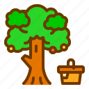 food, nature, picnic, spring, tree icon