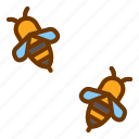 bees, flower, honey, nature, spring icon