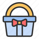 basket, easter, gift, spring icon