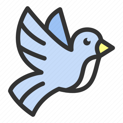 bird, easter, flying, nature, poultry, spring icon
