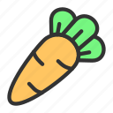 carrot, crop, easter, plant, spring, vegetables icon