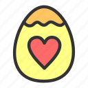 easter, egg, love, spring icon