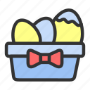easter, eggbasket, eggs, gift, spring icon