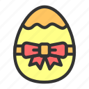 easter, egg, gift, golden, spring icon