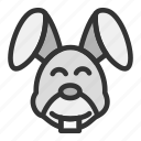 animal, easter, face, nature, rabbit, spring icon
