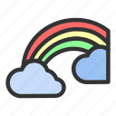 easter, nature, rainbow, spring, weather icon