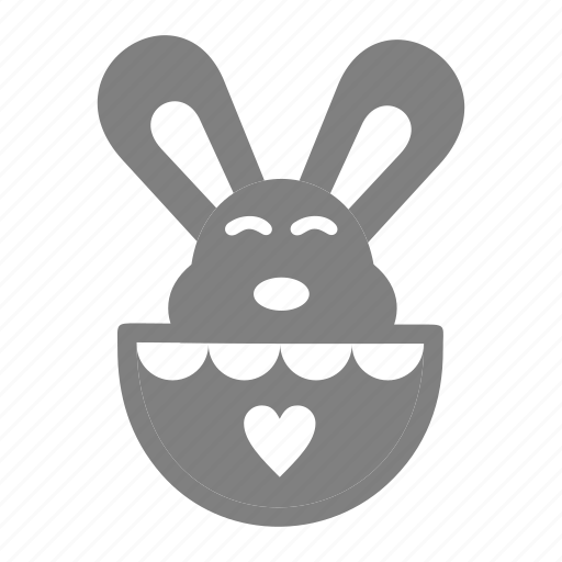 bunny, easter, hatched, spring icon