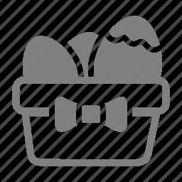 easter, eggbasket, eggs, spring icon