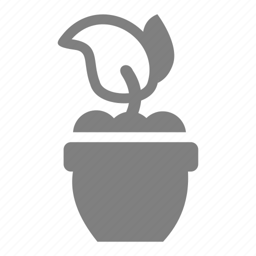 easter, plant, pot, spring icon