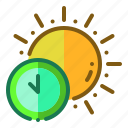 daytime, noon, time, sun, clock