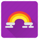cloud, colorful, rain, rainbow, spring, sun icon