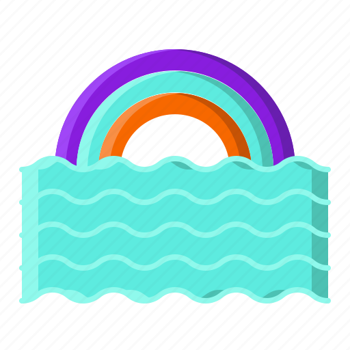 beautiful, colorful, rainbow, spring icon