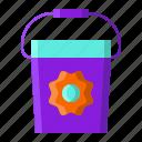 basket, bucket, gardening, spring icon