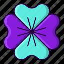 clover, flower, leaf, shamrock icon