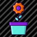 flower, garden, plant, pot icon